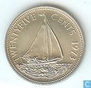 Bahamas 25 cents 1973