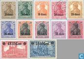 1916 German stamps, printed on Stage Area (BE3 BEL)