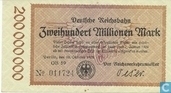 Berlin 200 Miljoen Mark 1923