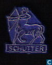Schutter [gold on blue]