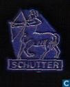 Schutter [goud op blauw]