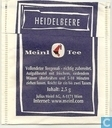 Tea bags and Tea labels - Julius Meinl - Heidelbeere