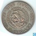 1960 Mexique 10 pesos