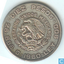 1960 Mexico 10 pesos