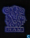 Ram [gold on blue]