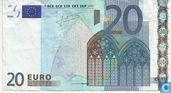Zone Euro 20 Euro H-E-T