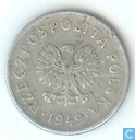 Polen 10 groszy 1949 (aluminium)