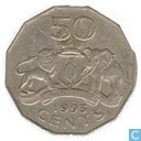 Swaziland 50 cents 1993