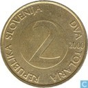 Slovénie 2 tolarja 2000