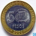 Dominican Republic 5 pesos 2002