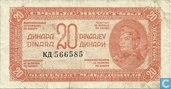 Jugoslawien 20 Dinara 1944