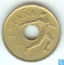 "Spanje 25 pesetas 1991 ""1992 Summer Olympics in Barcelona - discus throw"""