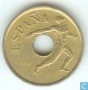 "Spanien 25 Peseten 1991 ""1992 Summer Olympics in Barcelona - discus throw"""