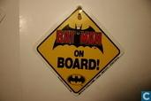 """Batman : bordje met """"Batman on board"""""""
