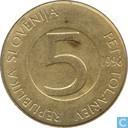 Slovénie 5 tolarjev 1998