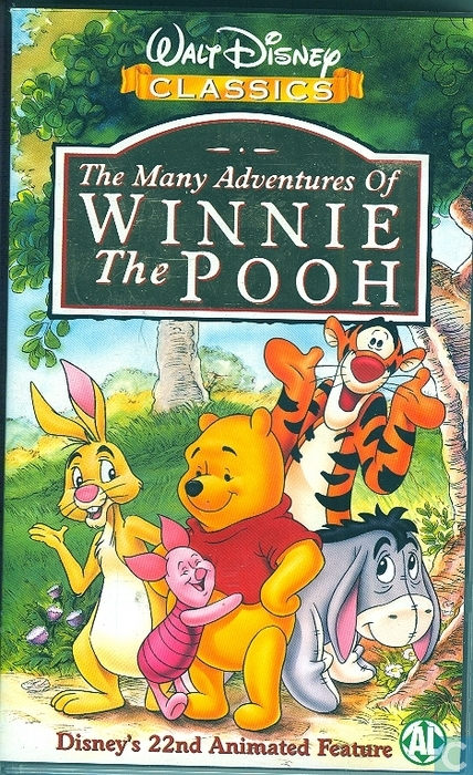 The Many Adventures of Winnie the Pooh - VHS video tape ...
