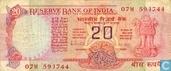 Inde 20 roupies