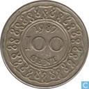 Suriname 100 cents 1987
