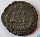 Antioch Roman Empire Kleinfollis of Emperor Constans AE4 347-348 AD.