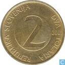 Slovénie 2 tolarja 2001