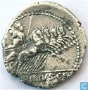 Denier République romaine de Caius Vibius C.F. Pansa 90 av. J.-C.