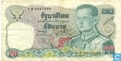 Thaïlande 20 Baht 1981 (P88a2)