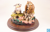 Owl from Bambi and Thumper from Walt Disney