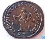 Romeinse Keizerrijk Ticinum Grootfollis van Keizer Diocletianus 304-305 n. Chr.