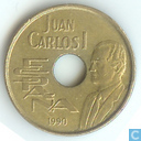 "Spain 25 pesetas 1990 ""Highjumper"""