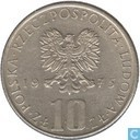"""Poland 10 zlotych 1975 """"Boleslaw Prus"""""""