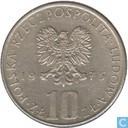 "Pologne 10 zlotych 1975 ""Boleslaw Prus"""