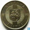 "Lithuania 1 litas 1999 ""Baltic Chain 1989"""