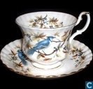 Kop en schotel - Blue Jay - Woodland Series - Royal Albert