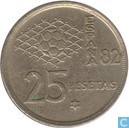 "Spanje 25 pesetas 1980 (80) ""1982 Soccer World Cup in Spain"""