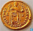 Romeinse Keizerrijk Solidus van Keizer Valentinianus III 426-430 n.Chr.