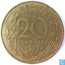 Coins - France - France 20 centimes 1977