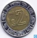 Mexico 2 pesos 2002