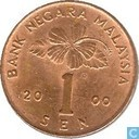 Maleisië 1 sen 2000
