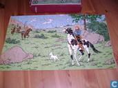 "Comic Books - Kuifjesbon producten - Kuifje's puzzle hout ""In Amerika"""