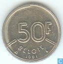 Belgium 50 francs 1991 (NLD)