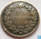 Italie 10 centesimi 1866 (OM - au point)