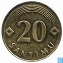 Coins - Latvia - Latvia 20 santimu 1992 (normal planchet)