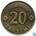 Monnaies - Lettonie - Lettonie 20 santimu 1992 (Caisse de monnaie normale)