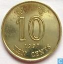 Hong Kong 10 cents 1997
