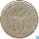 Malaysia 10 sen 1989