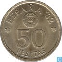 "Spain 50 pesetas 1980 ""World Cup 82"""