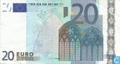 Zone Euro 20 Euro L-E-T