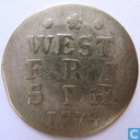 West-Friesland double arms on 1774 1775 penny