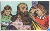 Assurbanipal koning van Ninive, staat op