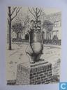 Den Bommel  Standbeeld O.B. Bommel
